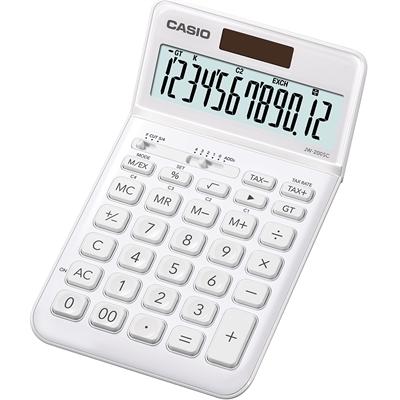 Pöytälaskin Casio JW-200SC-WE valkoinen