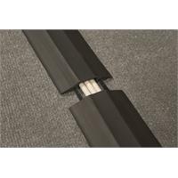 Kaapelin lattiapeitelista D-Line 83mm x 1,8 m musta