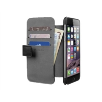 Kotelo iPhone 6+ Cellularline wallet musta