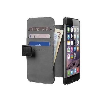 Kotelo iPhone 6+ Cellularline wallet musta
