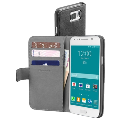 Kotelo Samsung Galaxy S6 Cellularline wallet musta