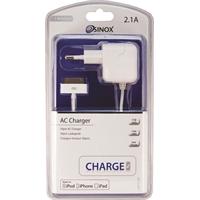 Verkkolaturi AC iPhone 4/4S, iPad 1/2/3, iPod 30 pin 2.1A