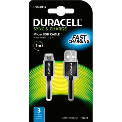 Datakaapeli Duracell micro-USB 2.0A