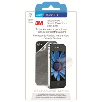 Näytönsuoja 3M taustakalvolla iPhone4/4S