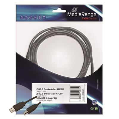 Tulostinkaapeli 1,8 m USB 2.0 musta
