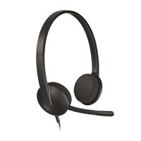 Kuuloke Logitech Headset H340 langallinen USB - melua suodattava mikrofoni, säädettävä panta