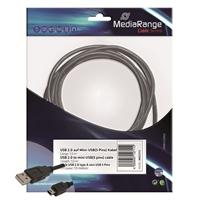 USB-kaapeli USB ja  mini-USB 1,5m musta