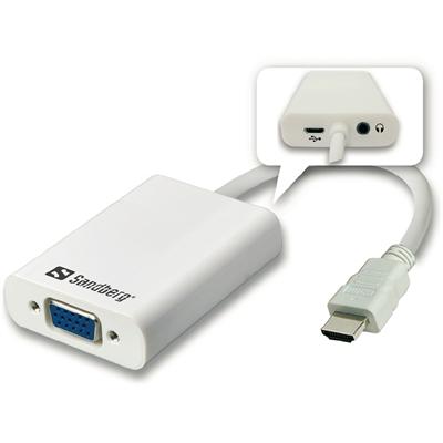 Adapteri videomuunnin Sandberg  HDMI-VGA+audio