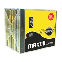 CD-RW Maxell 80 High Speed 12X 10mm/10