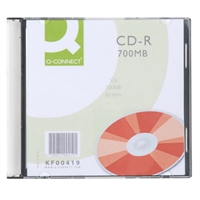 CD-R Q-Connect 52X 700MB/80min slim/10