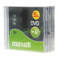 DVD+R Maxell 4,7 GB 16x Data/Video 10mm/5