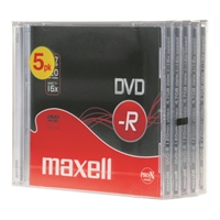 DVD-R Maxell 4,7 GB 16x Data/Video 10mm/5