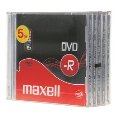 DVD-R Maxell 4,7 GB 16x Data/Video 10mm/5