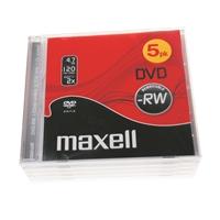 DVD-RW Maxell 4X 4.7GB/120min/5