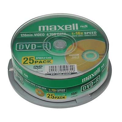 DVD-R Q-Connect 16x 4.7GB/120min spindle/25