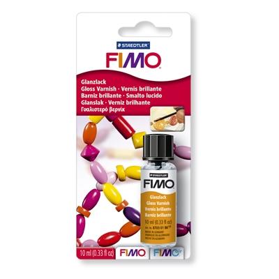 Lakka Fimo kiiltävä 10 ml - voit tehdä kovettuneen massan pinnasta kiiltävän ja vedenkestävän
