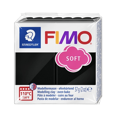 Askartelu- ja muovailumassa Staedtler Fimo 57 g soft black - uunissa kovetettava