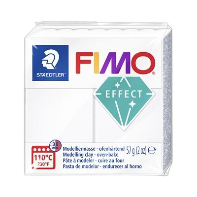 Askartelu- ja muovailumassa Staedtler Fimo 57 g effect white translucent - uunissa kovetettava