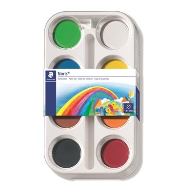 Vesivärit Staedtler Noris 8 värin paletti - korkealaatuiset ja erittäin peittävät värit