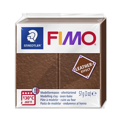 Askartelu- ja muovailumassa Staedtler Fimo 57 g leather-effect nut - uunissa kovetettava