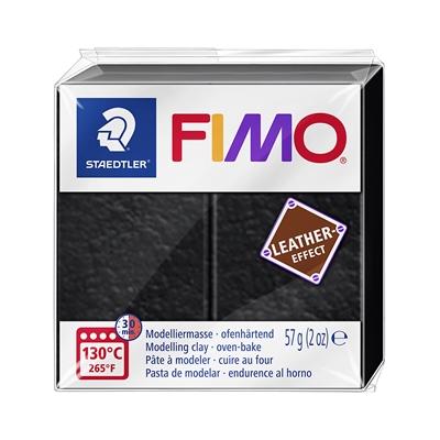 Askartelu- ja muovailumassa Staedtler Fimo 57 g leather-effect black - uunissa kovetettava