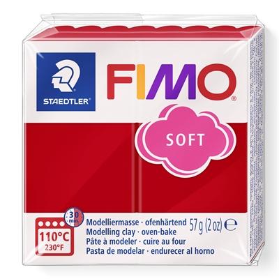 Askartelu- ja muovailumassa Staedtler Fimo 57 g soft xmas red - uunissa kovetettava