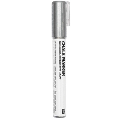 Liitutaulutussi Silver - vesipohjainen, sopii lasille, liitutauluille ja sileille pinnoille