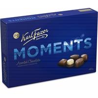 Suklaa Karl Fazer Moments 400g - ihania suklaakonvehteja kahdessa kerroksessa