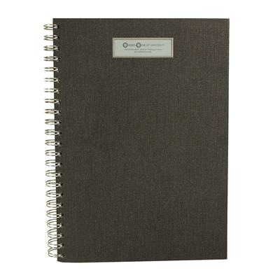 Muistikirja Bigso A4 /90 C68 musta - uusiutuvista kierrätettävistä materiaaleista