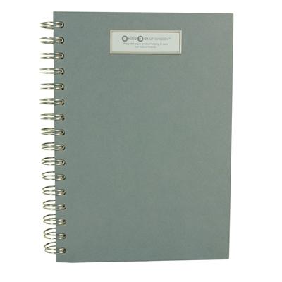 Muistikirja Bigso A6 /90 N85 puujäljitelmä - uusiutuvista kierrätettävistä materiaaleista