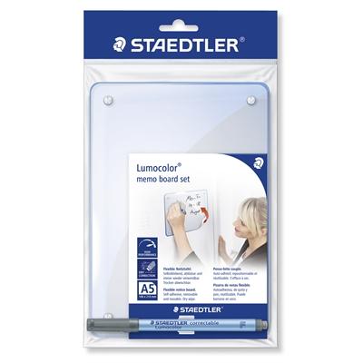 Muistitaulu Staedtler Lumocolor A5 itsekiinnittyvä - mukana myös Lumocolor kynä + teline