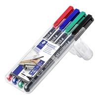 Merkkauskynä / piirtoheitinkynä Lumocolor M pysyvä 4 värin sarja - sopii lähes kaikille pinnoille