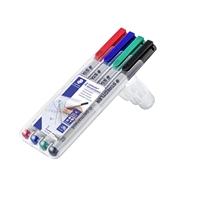 Merkkauskynä / piirtoheitinkynä Lumocolor S vesiliukoinen 4 väriä - sopii lähes kaikille pinnoille