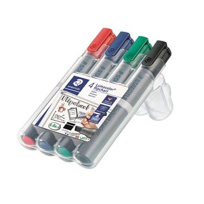 Lehtiötussi Staedtler Lumocolor356 viisto 4 väriä