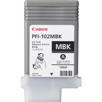 Värikasetti mustesuihku Canon PFI-102MBK mattamusta