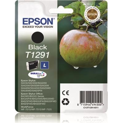 Värikasetti Inkjet Epson Stylus T1291 musta
