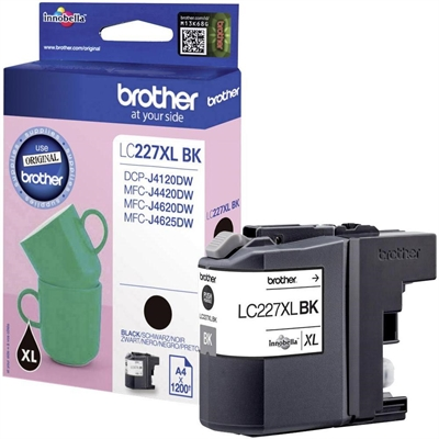 Värikasetti inkjet Brother LC227XLBK DCPJ4120DW MFCJ4620DW