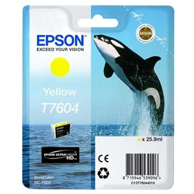 Inkjet Epson T7604 SureColorP600 keltainen