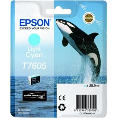 Inkjet Epson T7605 SureColorP600 vaalea sininen