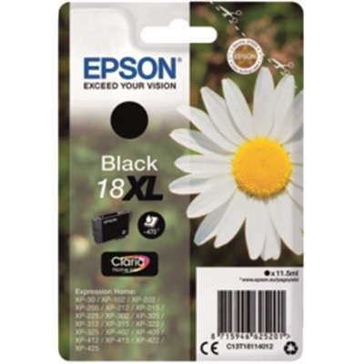 Värikasetti inkjet Epson 18XL Home XP-312 musta