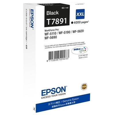 Värikasetti inkjet Epson T7891  WF5690 musta