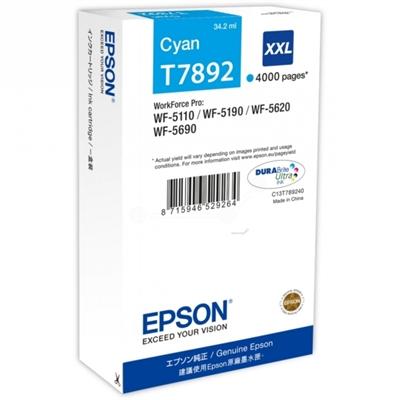 Värikasetti inkjet Epson T7892  WF5690 sininen