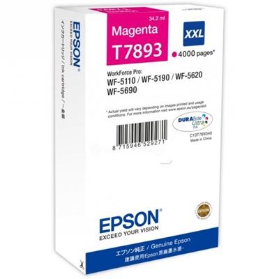 Värikasetti inkjet Epson T7893  WF5690 punainen