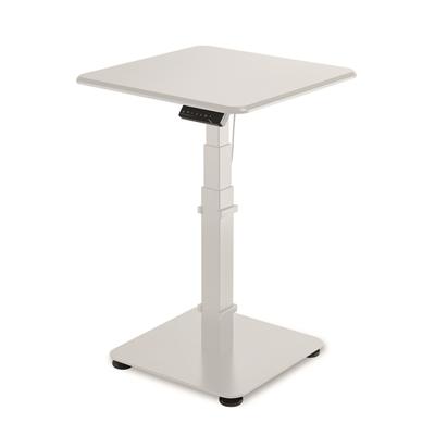 Sähköpöytä GetUpDesk Single 60 x 60 cm valkoinen - kotimainen, korkeuden säätö nappia painamalla