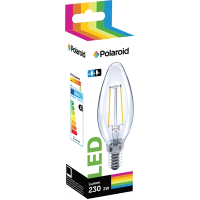 Lamppu Polaroid LED filament candle 2W E14