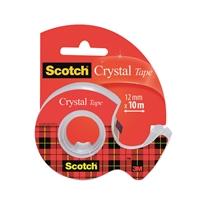 Yleisteippi Scotch kirkas 12mmX10m + katkoja - hyvin pitävä, kellastumaton ja helposti katkaistava