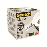 Teippi Scotch Magic 900 Eko 19mmx33m/3 rll pkt - kasvi- ja kierrätysmateriaaleja sisältävä teippi