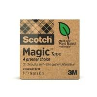 Teippi Scotch Magic 900 Eko 19mmx30 - kasvi- ja kierrätysmateriaaleja sisältävä teippi