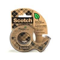 Teippi Scotch Magic 900 Eko 19mmx20m + katkoja - kasvi- ja kierrätysmateriaaleja sisältävä teippi