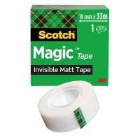 Teippi Scotch Magic 810 19mm X 33m - kasvi- ja kierrätysmateriaaleja sisältävä teippi